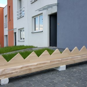policzek schodów prostych